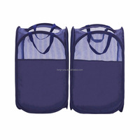 High Quality Strong Storage Foldable Pop-Up Mesh Hamper Laundry Hamper with Reinforced Carry Handles