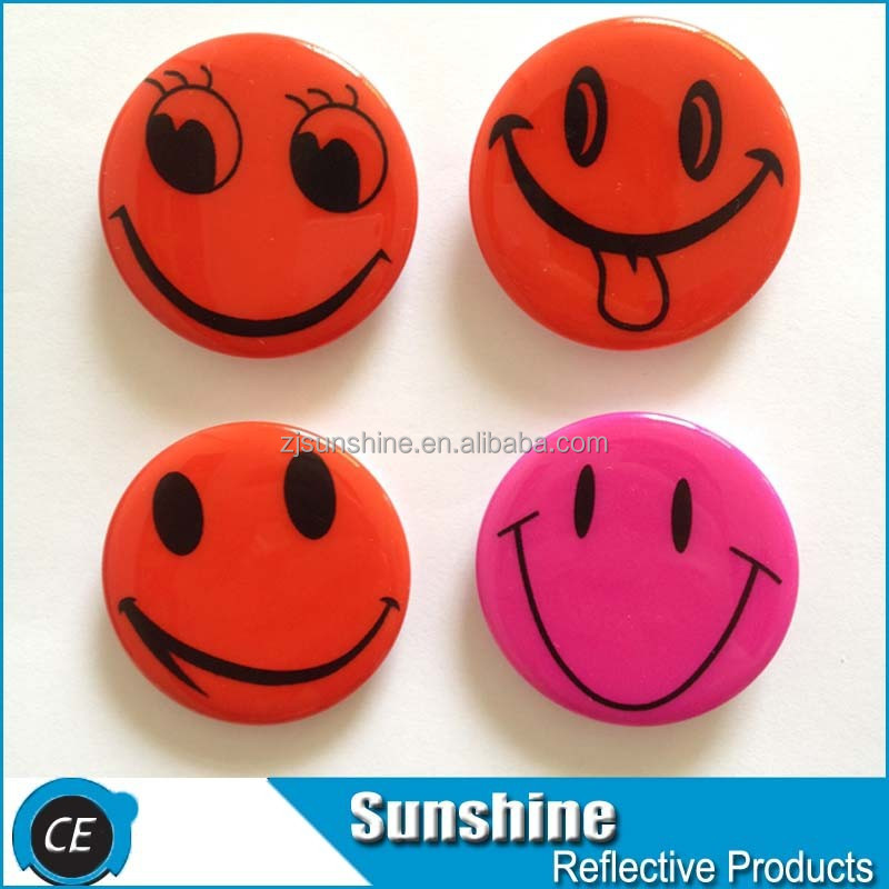 silk-screen printing, CMYK reflective pin badge lapel button pin
