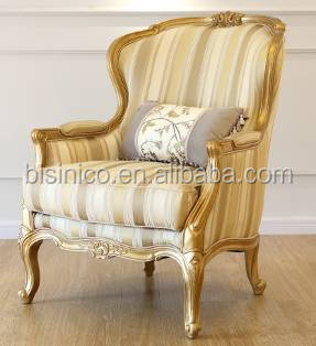 Gorgeous French Wooden Carved Living Room Sofa Set/ Elegant Royal Home Furniture Sofa Recliner With High Quality Fabric