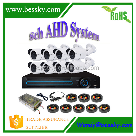 ahd bullet camera 8ch ahd dvr 720p 2hdd motorized 4x zoom ahd video surveilance system