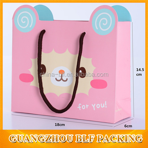 Lovely presents packaging paper gift bag for children