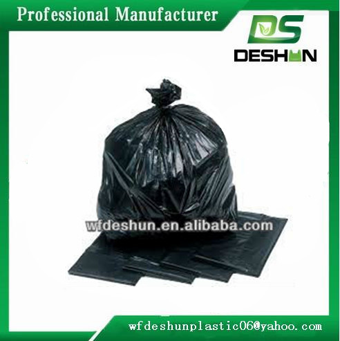 20 Pack heavy duty 42 gallon black contractor plastic garbage trash bag