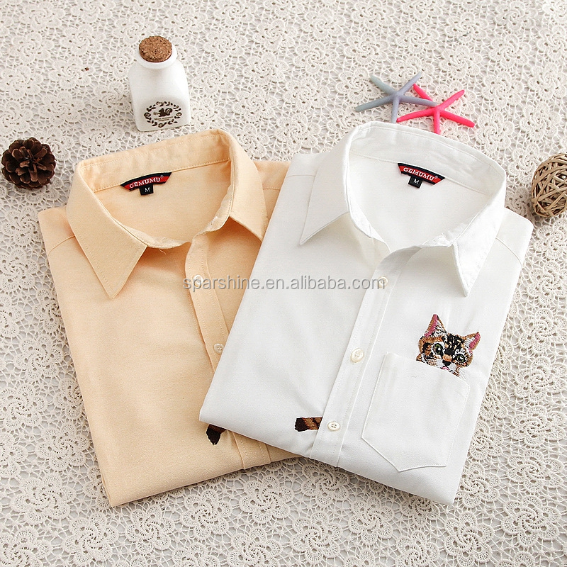 2016 Latest Blouse Design Formal Shirts Picture For T-Shirts Hot Sale Plus size