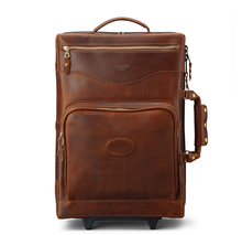 carry on genuine leather trolley bag luggage
