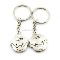 manufaturer wholesale cheap couple key chain wedding souvenir craft