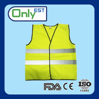 China factory waterproof logo printed cheap safety vest for road safety