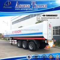 Aotong brand low price 3 Axle Carton Steel 50m3 Fuel Tanker Semi Trailer for sale