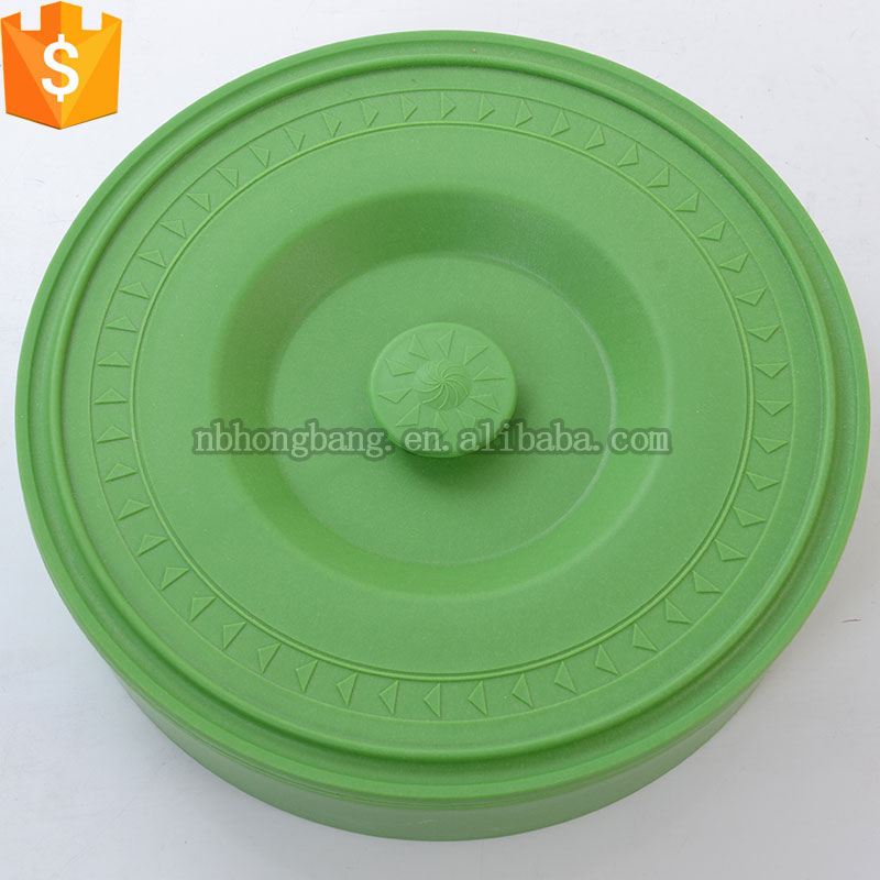 food grade round plastic tortilla server