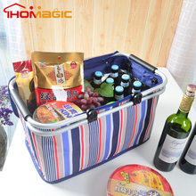 2017 Hot High Quality Fruit Vegetable Customized Tote Foldable Cooler Bag