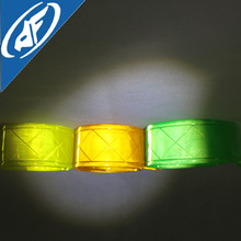 Hot Sale Customized Green Yellow Reflective Warning Tape PVC Belt for Safety Vest