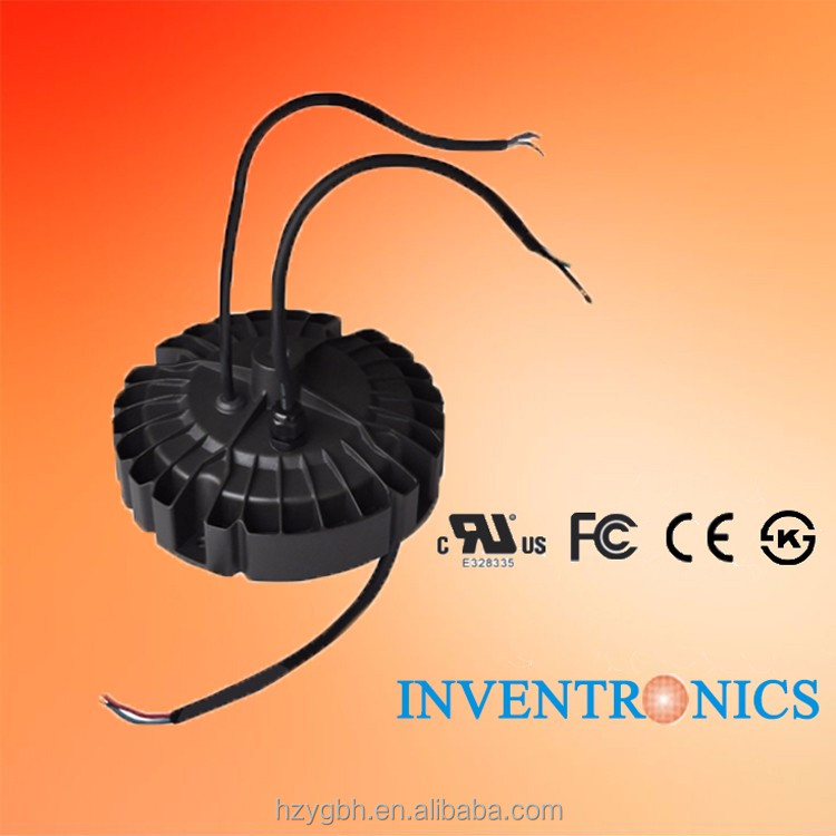 Inventronics 240W IP65 Waterproof 2800-4200mA High Current CC 29-86V Round LED Drivers Power Supply For UFO LED High Bay Light