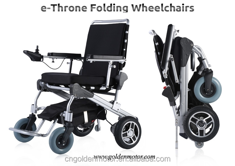 CE FDA Approved 8'',12'' light weight easy quick folding foldable electric power wheelchair,e-Throne folding wheelchair