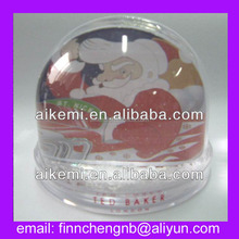 christmas plastic acrylic snow globe with photo insert,custom snow globe manufacturers,empty cheap snow globe/water ball