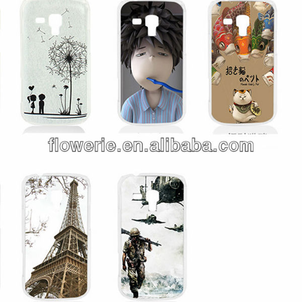 FL3097 2013 Guangzhou wholesale color print butterfly hard back cover case for samsung galaxy s duos s7562