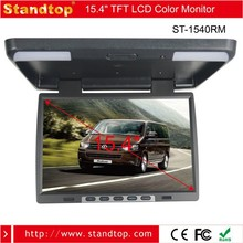 15.4 inch HD flip down roof mount monitor in car video