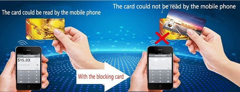 13.56mhz Anti-Theft RFID Blocking Card for Wallet Protecting with logo printing