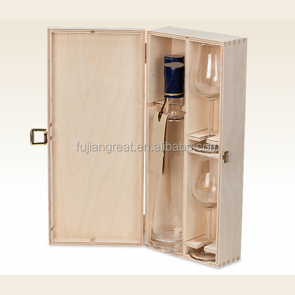 Wholesale Wood gift boxes for wine bottles