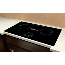 H-one Logo Black Bridge Drive Aluminum Coil Double Zone Black Crydtal Induction Cooker For Kitchen Counter Top <strong>Shelf</strong>