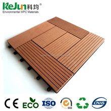 300*300mm Colorful WPC composite floor tile balcony anti-slip outdoor tiles