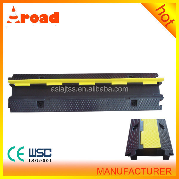 PVC Rubber 1 channels Cable Protector For Traffic