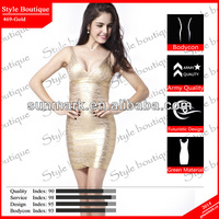 World debut 2014 gold sexy cheap bandage dresses uk in top design