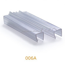 Glass Shower Door Floor Hinge Profile pvc Seal Strips