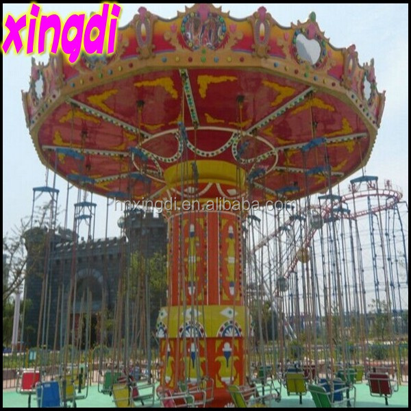 2016 Most exciting theme park rides electric flying chair swing flying ride used amusement games for sale