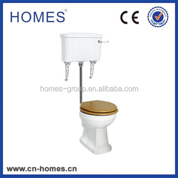 Traditional low level flush pipe toilet closestool completed KIT