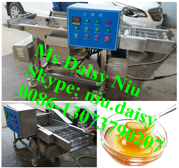 automatic chocolate glaze machine/honey glazing machine/syrup beef pork glaze machine for sale