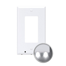 Decor No Batteries No Wires US Canada Universal Dusk to Dawn Motion Sensor Wall Outlet Wall Plate LED Guidelight Night Lights