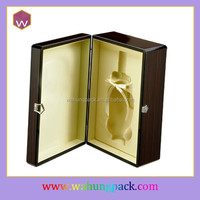 High-end Black Wood Wine Presentation Box /MDF Red Wine Gift Box Package