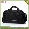 Eco-Friendly black color teens duffel team sports bag/weekend travel bag