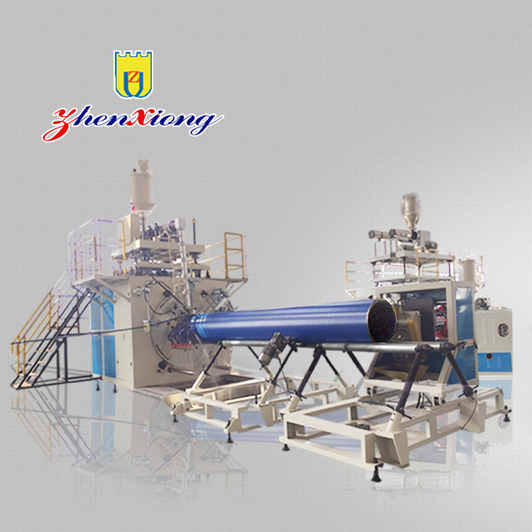 Diameter 300-3500mm HDPE/PP krah spiral corrugated pipe extruding making machine