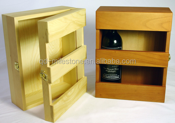 6 wine bottles wooden wine box wine rack wine crates for for Where to buy used wine crates
