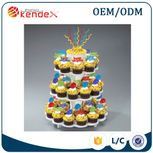 China professional customized happy birthday cake topper acrylic food display stand wholesale