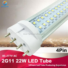 New Model 2g11 360 degree 18w 4 pin pl lamp 2835 smd 2g11 pll led tube fpl replacement