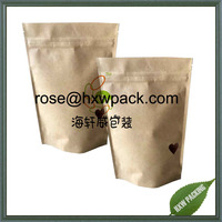 Protein fruit food packaging paper bag with irregualr shape window