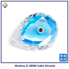 Special Pear Mix Color White and Swiss Topaz Cubic Zirconia