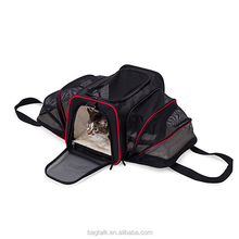 PT0015CJ Expandable Airline Approved IATA Carry On Travel Pet Dog Cat Soft-Sided Carrier Bag