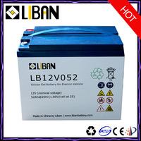 12V 52Ah Electric Motorcycle Lead Acid Battery