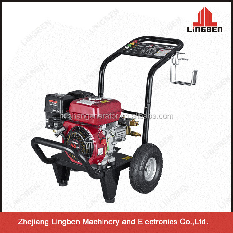 ZheJiang LingBen Good Quality 6.5HP 180Bar 2600PSI Gasoline Jet Power Portable High Pressure Car Washer TaiZhou Factory LB180B