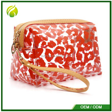 Factory zip lock leopard print makeup bag bag multifunction transparency korean cosmetic bag