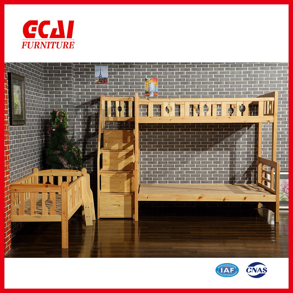 Antique Style Kids Wooden modern design bunk bed