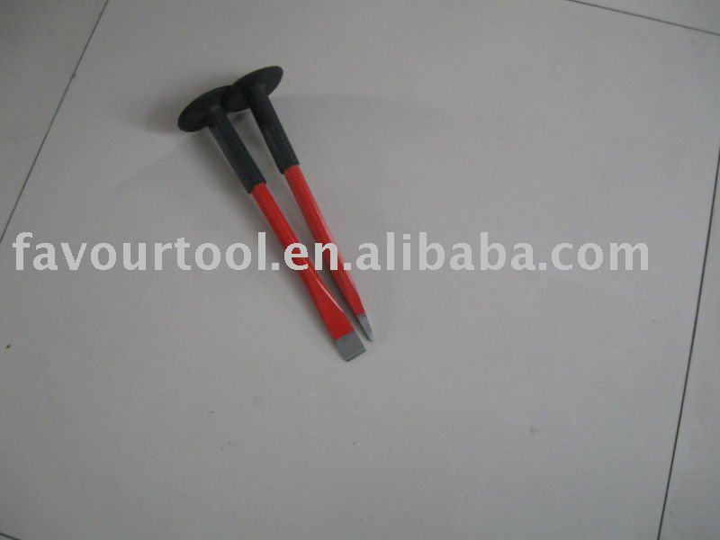 Hexagonal cold chisel with rubber holder
