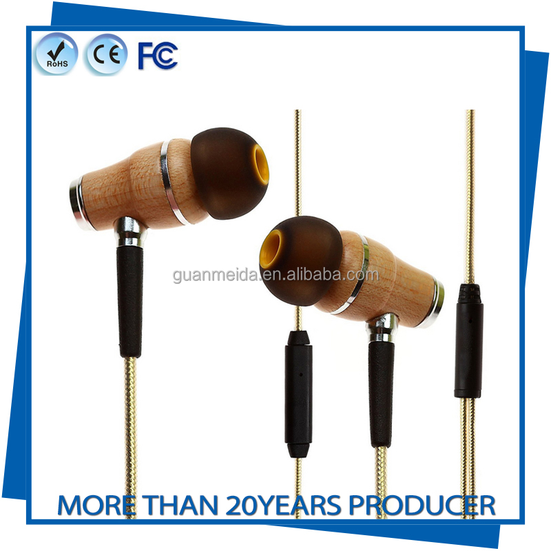 Wooden Earphone Stereo Music Headphone Supper Bass Earbud HIFI DIY Headset fone de ouvido For Mobile Phone Smart Phone iphone