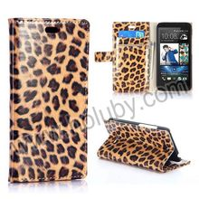 Fashion Leopard Pattern Leather Flip Cover for HTC Desire 616 Case