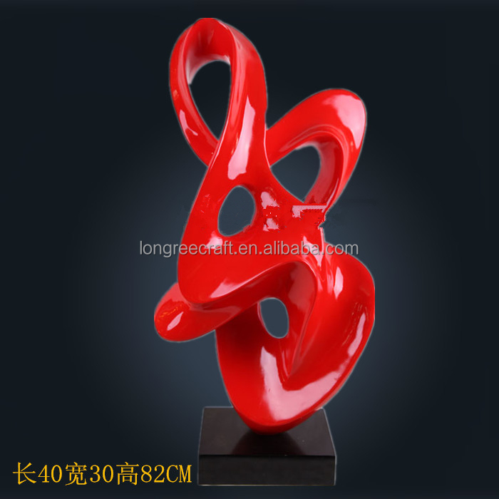 red contemporary sculpture outdoor stone sculpture hot sale