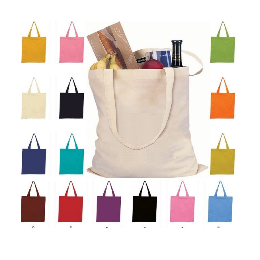 Blank Large Reusable Grocery Bags Printed Canvas Tote Bag