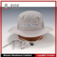 Embroidery two color fabric bucket hat pattern reversible bucket hat