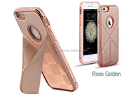 Back cover case for iPhone with metal Diamond
